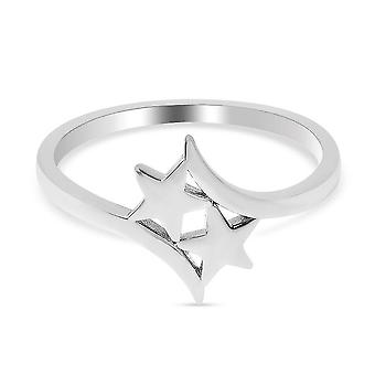 TJC Silver Star Bypass Ring for Women Sterling Stamped Jewellery(O)