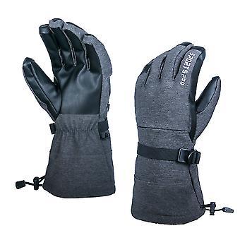Ski handschoenen Waterdichte handschoenen Koud weer Outdoor Snowboarden Handschoen Zwart M
