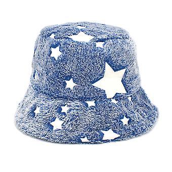 Téli műszőrme szőrös vödör kalap bolyhos Fuzzy Meleg Kalap Plüss halász kalap