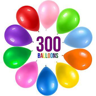 300 festballonger 12 tommer 10 regnbuefarger