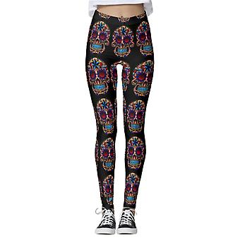 Modèles d'Halloween pour femmes Taille haute Pantalon de yoga Gym Leggings Pantalons de sport