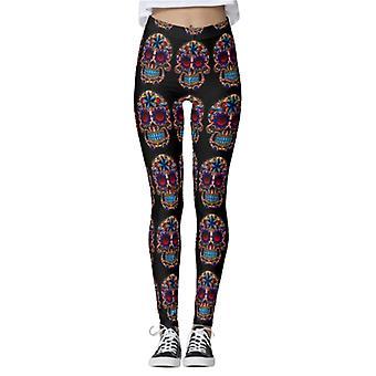 Women's Halloween Patterns High Waist Yoga Pants Gym Leggings Sports Trousers