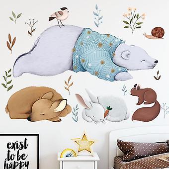 Cute Bear Deer Naklejki ścienne Naklejki Naklejki Salon Dekoracja ścienna Pasta