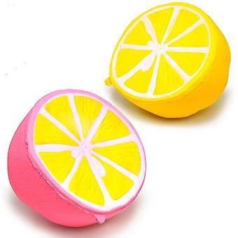 Hälften citronbläckshy leksak barn saktar stress relief leksaker