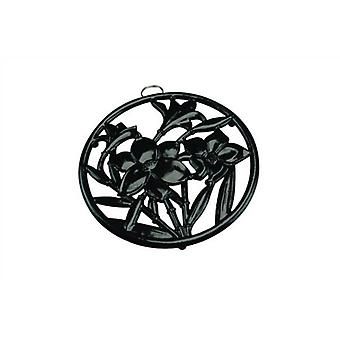 Black Round Cast Iron Trivet