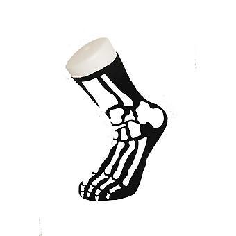 Skeleton socks Halloween bones of horror joke socks
