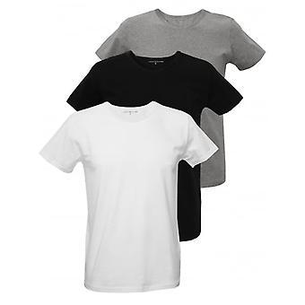 Tommy Hilfiger 3-Pack Premium Crew-Neck T-Shirts, Black/White/Grey