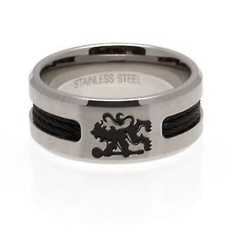 Chelsea Black Inlay Ring Large