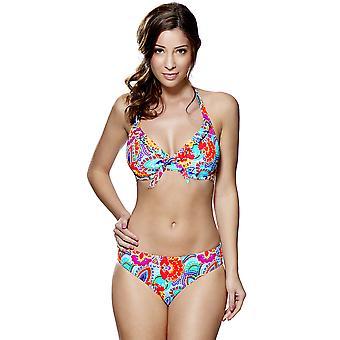 Audelle Fiesta Multi-farbigen drucken Neckholder Bikini-Oberteil 147462