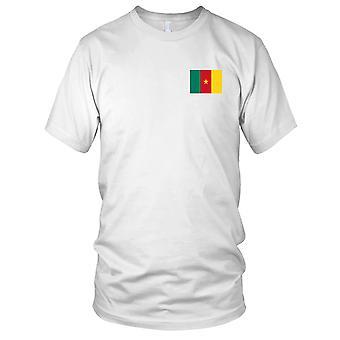 Drapeau National du pays Cameroun - Logo - brodé 100 % coton T-Shirt Ladies T Shirt