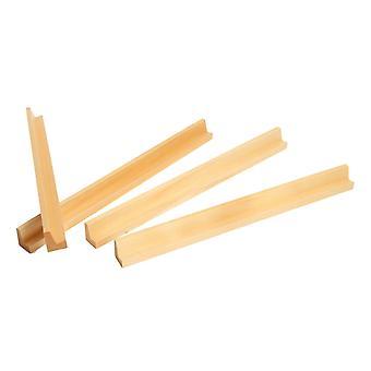 4 Wooden Racks for Mah Jong, Scrabble and Dominoes