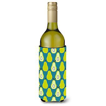 Peren op groene fles wijn Beverge isolator Hugger