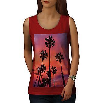 Palm Photos femmes RedTank Top du soir | Wellcoda