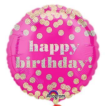 Дотти голографической круг день рождения 18 дюймов анаграмма фольга шар