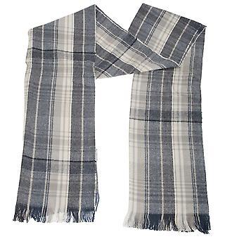 Unisex Karo gemusterten Schal mit Fransen