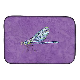 Carolines Schätze 8865DDM Libelle auf lila Schale trocknen Matte