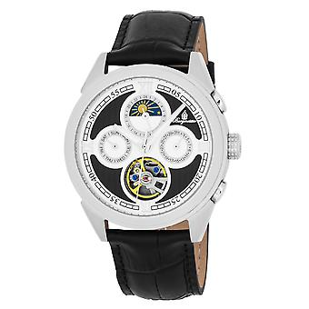Burgmeister BM340-112 Denton, Gents automatic watch, Analogue display - Water resistant, Stylish leather strap, Classic men's watch