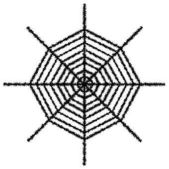 Riesige schimmernden Spinnennetz - schwarz