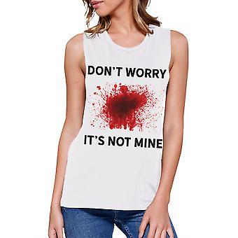 Not Mine Blood Tank Top Womens Halloween Sleeveless Muscle Tank Top