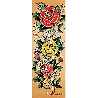 Ed Hardy Life Love Luck Poster Poster Print