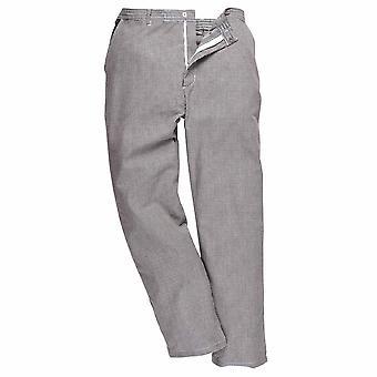 Portwest Mens Harrow durabil twill Fabric Chefs pantaloni