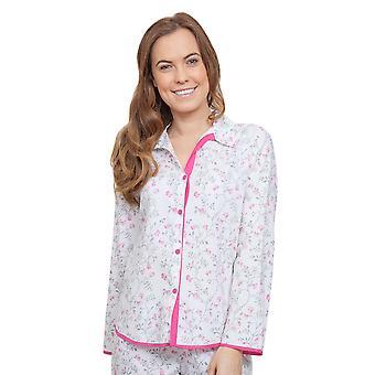 Cyberjammies 3801 vrouw Erica grijs bloemen Pajama pyjama's Top