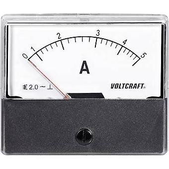 Analogue rack-mount meter VOLTCRAFT AM-70X60/5A 5 A Moving iron