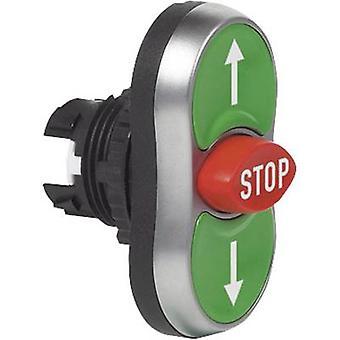 BACO L61BA22 tredobbelt hoved trykknap front ring (PVC), forkromet grøn, rød, grøn 1 pc (er)