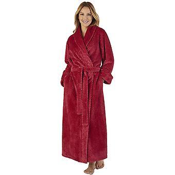 Slenderella HC2333 Women's Waffle Flannel Robe Loungewear Bath Dressing Gown