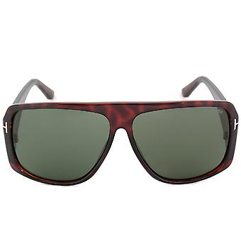 Tom Ford Harley Sunglasses | FT0433 52N | Dark Havana | Green Lens