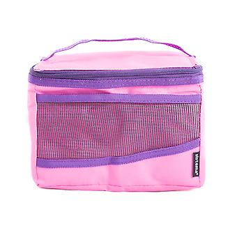 Sistema Maxi hochklappen isolierte Mittagessen Kühltasche, rosa
