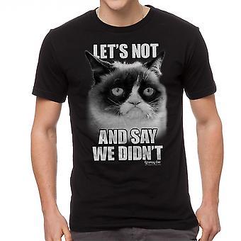 Grumpy Cat Let's Not Men's Black Funny T-shirt