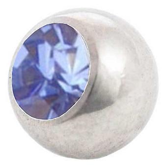 Piercing vervanging bal, lichtblauw | 1,2 x 3 en 4 mm, lichaam sieraden
