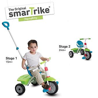 2 en 1 de SmarTrike tricycle vert