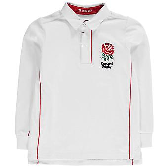 RFU Kids Angleterre manches longues Jersey Boys infantiles Smart Top Polo Shirt coton