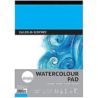 Daler-Rowney helt enkelt konstnärer akvarell papper Pad A4