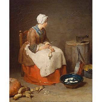 خادمة المطبخ، جان بابتيست سيمون شاردان، 50x40cm