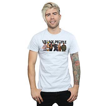 Dorf Menschen Männer Gruppe Foto T-Shirt