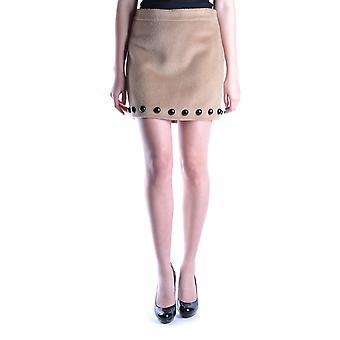 Liefde Moschino Ezbc061005 Women's Beige Wool Skirt