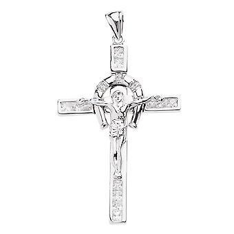 925 sur sterling silver cross - FELICITY glacé