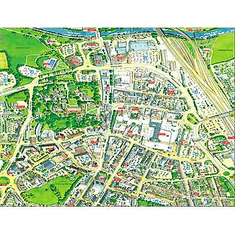 Stadsbilder Street karta över Peterborough 400 bit pussel 470 x 320 mm (HTF)