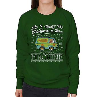 Scooby-Doo-All I want for Christmas ist der Mystery Machine Damen Sweatshirt