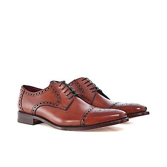 Loake cuero semi-Brogue Foley Blucher