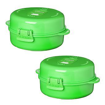 Sistema Set of 2 Easy Eggs, Green