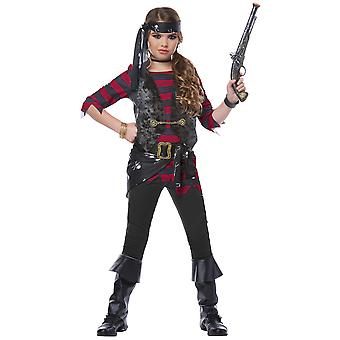 Renegade Pirate Buccaneer Caribbean Swashbuckler Book Week Girls Costume
