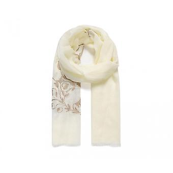 Intrigue Womens/Ladies Leafy Embroidered Scarf