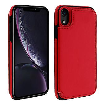 Apple iPhone XR Shockproof Case, Card Holder Wallet, Forcell, Red
