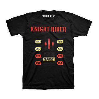 Men's Knight Rider Normal Cruise Black T-Shirt