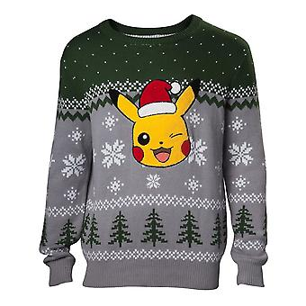 Pokemon Pikachu Christmas Jumper Multicolour Male X-Large (KW066144POK-XL)