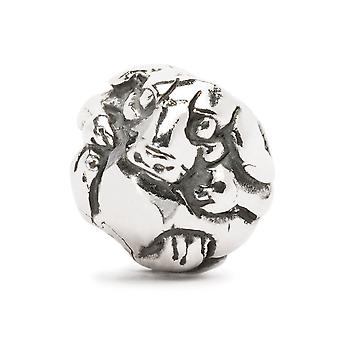 Trollbeads cinese zodiaco cane argento tallone TAGBE-40030